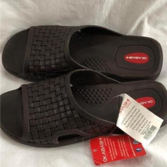 f148d968f8c010 OKABASHI Relaxers Men s Torino Brown Rubber Sandal